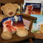 Toby Bear at the book store