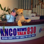 Toby Bear visits KNCO station